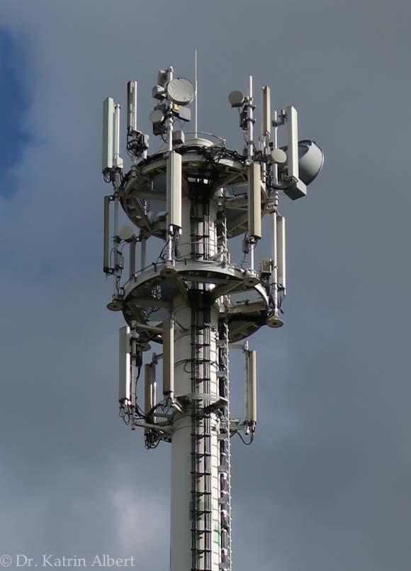 Mobilfunkmast mit Richtfunk