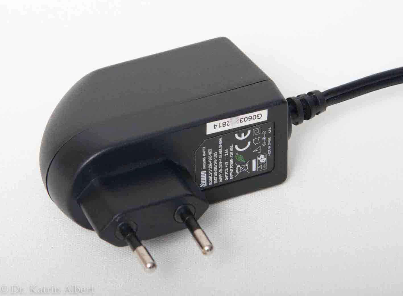 Netzteil des USB-Hubs