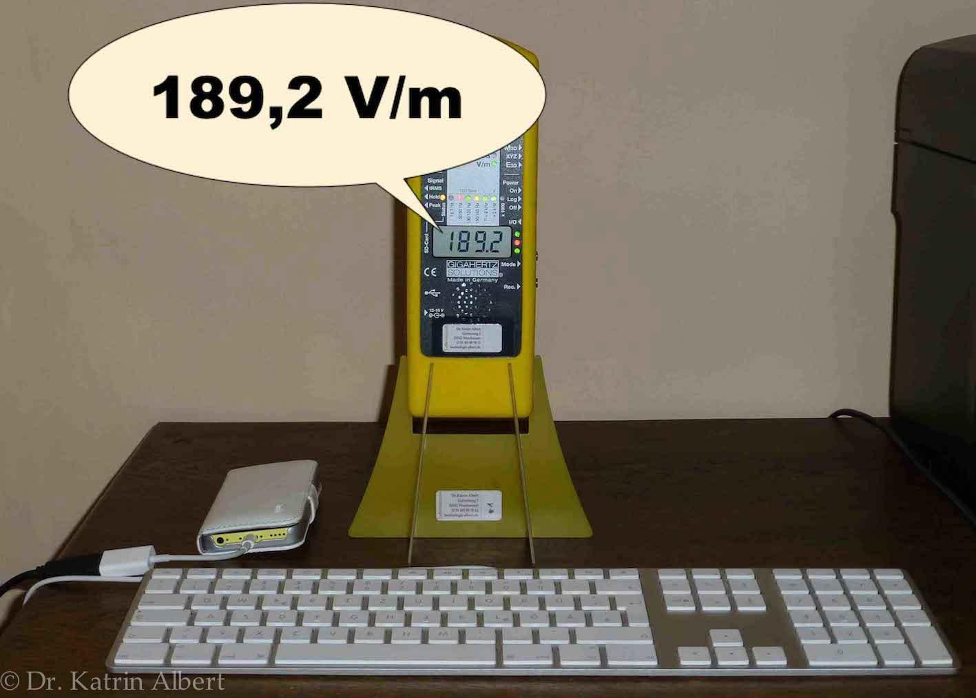 Tastatur und Handy ungeerdet